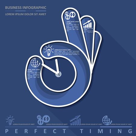 Business infographic. Perfect timing, vector