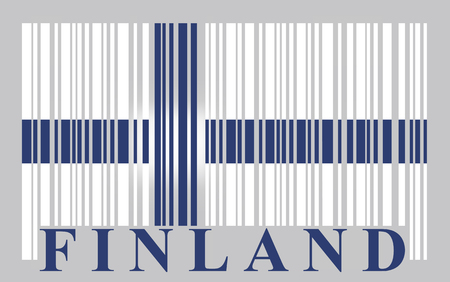 made in finland: Finland barcode flag, vector