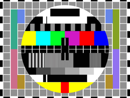 tv color test pattern - test card, vector