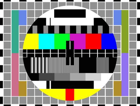 tv kleur testpatroon - testkaart, vector