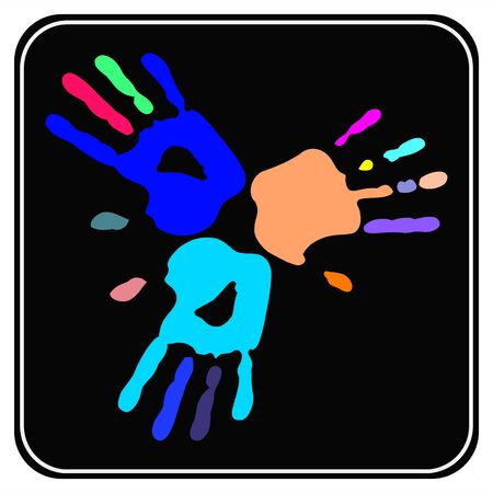 any size: Handprint , Vector images scale to any size