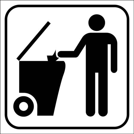 cesto basura: Reciclaje de símbolo, vector Foto de archivo