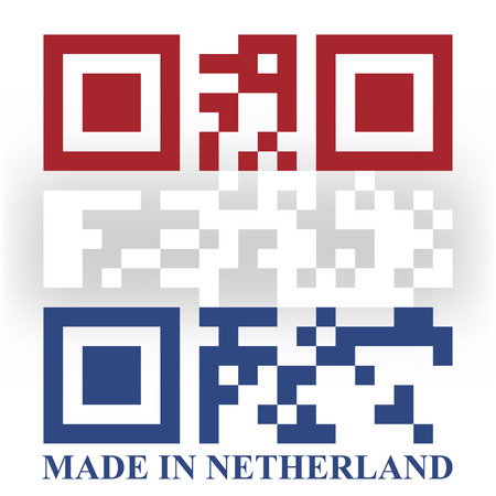 qr code: Netherland QR code flag, vector