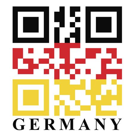 qr code: Germany QR code flag, vector