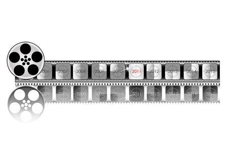 new year counter: year Film countdown vector