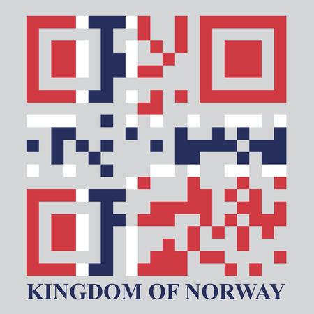 qr code: Norway QR code flag, vector