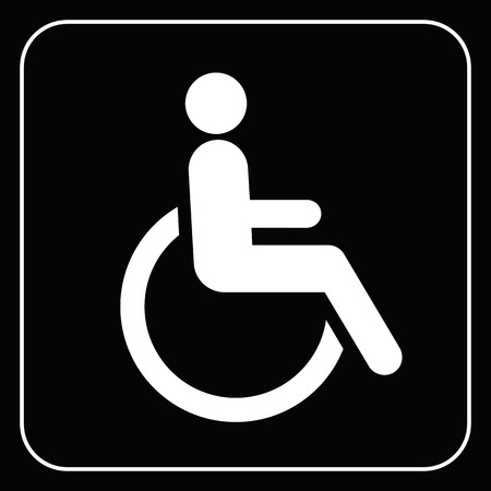 wheel car: disabled icon  sign vector