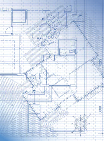blue prints: Architectural background. Vector.
