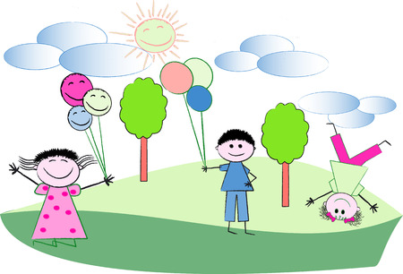 baby playing toy: Children