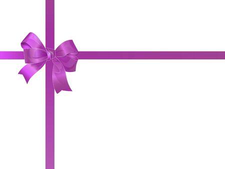 Beautiful purple bow VECTOR