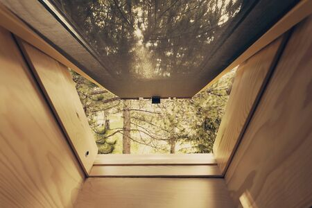 skylight: Beautiful nature view through roof skylight Stock Photo