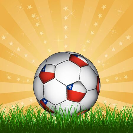 chile: Chile soccer ball, vector