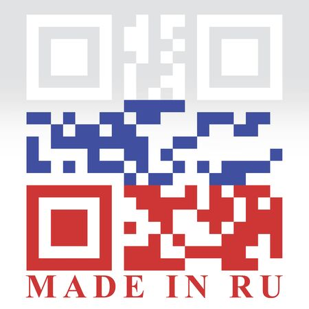fabrication: Russia QR code flag, vector