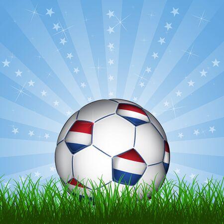european championship: Netherland soccer ball, vector