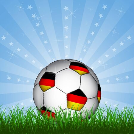 football european championship: Germany soccer ball, vector