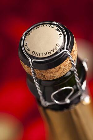 sektglas: Champagne Weinflaschenverschluss