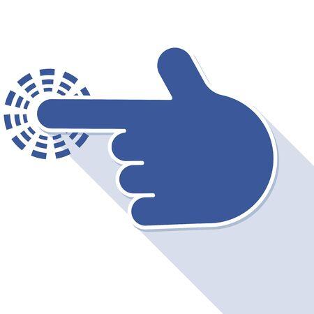 depress: finger pointer symbol, vector