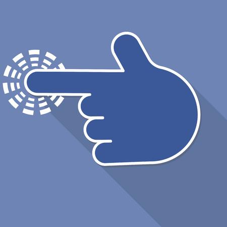 hit tech: finger pointer symbol, vector