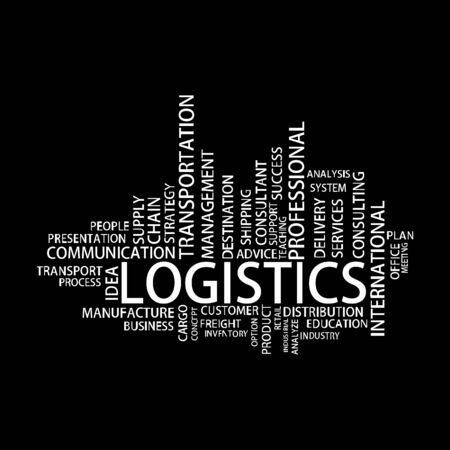 supply chain: Logistics Tag Cloud, vector