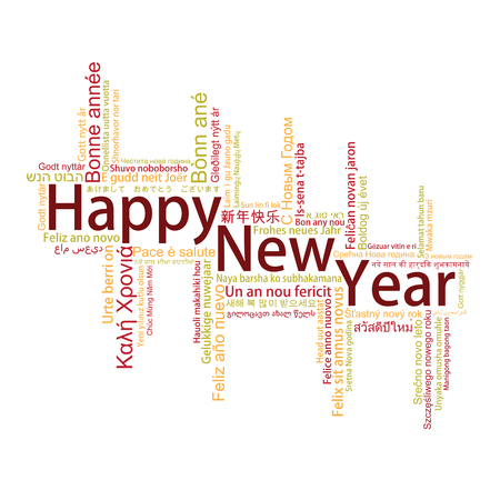 metadata: Happy New Year Tag Cloud, vector