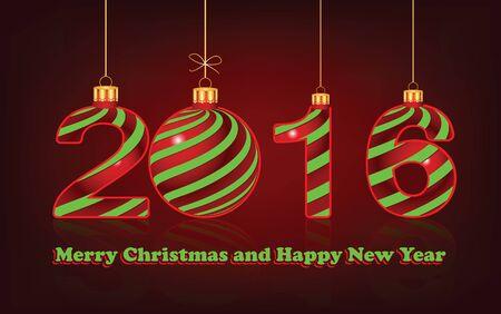 holyday: Happy New Year 2016  background, vector Illustration