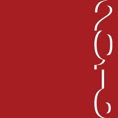 navidad elegante: A�o Nuevo Tarjeta de felicitaci�n feliz 2016 dise�o Vectores