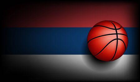 basket ball: Serbian basket ball, vector