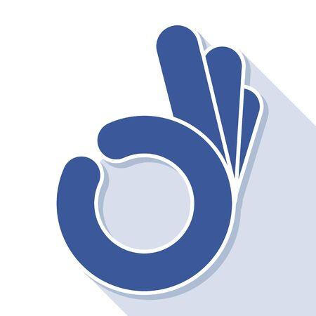 ok: abstract  OK okay hand symbol, vector