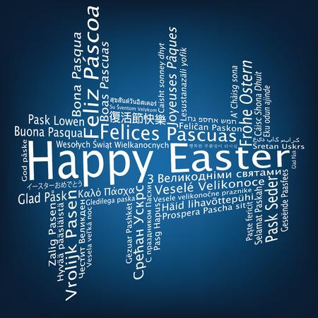metadata: Happy Easter tag cloud, vector