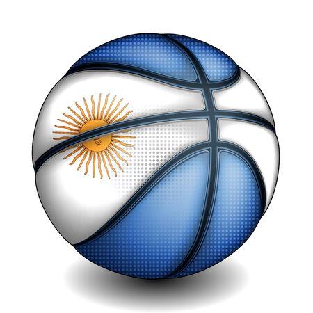 basket ball: Argentine basket ball, vector