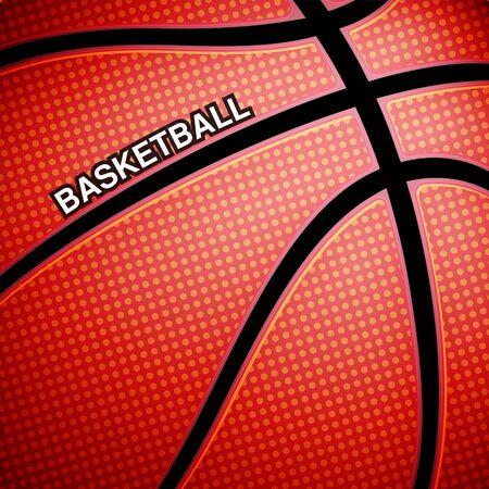 international basketball: Basketball ball background, vector Illustration