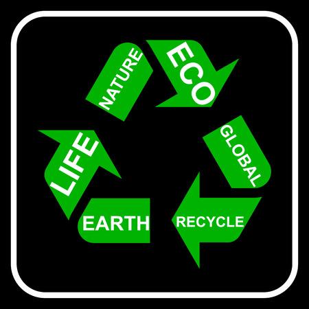 recycling symbol: Recycling symbol, vector Illustration