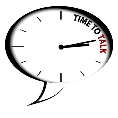 "Horloge ""Time to Talk"""
