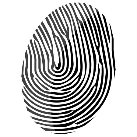 theft proof: Finger print isolated on the white background  vector