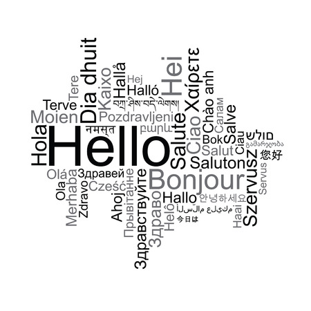 hola: Hello Tag Cloud in different languages