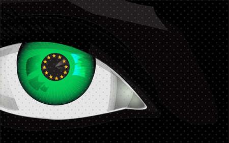 greedy: greedy eye with euro sign, background