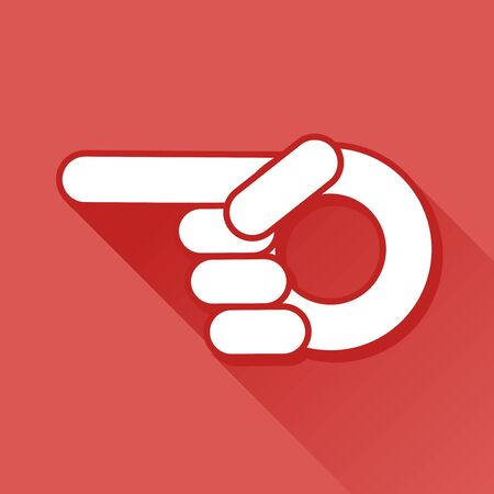 hit tech: finger pointer symbol, vector