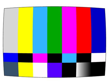 ntsc: NTSC tv pattern signal for test purposes Illustration