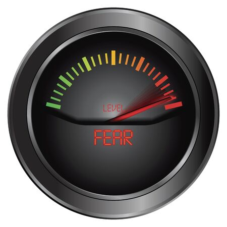 fear: Fear meter indicate, vector