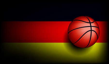 basket ball: Germany  basket ball, vector