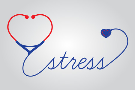 electrocardiograph: Medical stress symbol, cardiogram,  vector