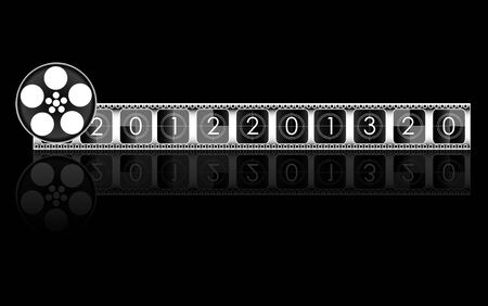 countdown: 2013 year Film countdown vector Illustration