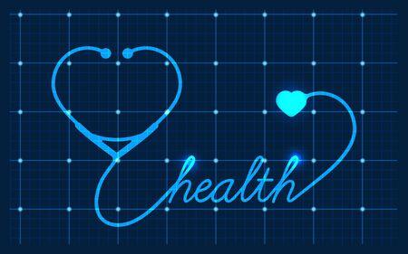 medical symbol: Medical Valentines symbol, vector
