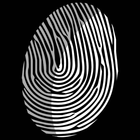 finger print: Finger print isolated on the white background  vector