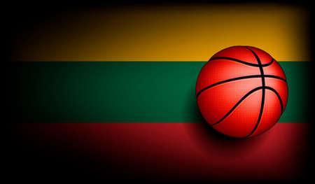 international basketball: Lithuanians basket ball, vector Illustration