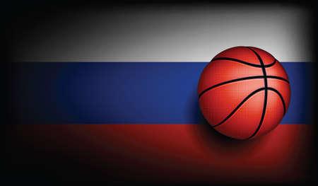 basket ball: Russian  basket ball, vector