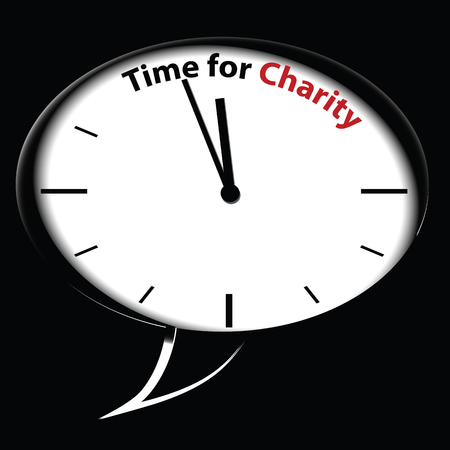desperation: Bubble clock �??Time for Charity�??, vector