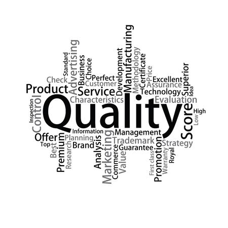 metadata: Quality Tag Cloud, vector Illustration