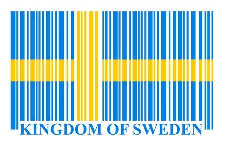 sweden: Sweden barcode flag, vector