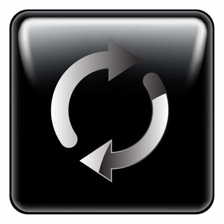 reload: black reload button vector Illustration
